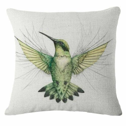 Soft Graffiti  bird Cotton Linen Throw Pillow Case Cushion Cover Home Decor