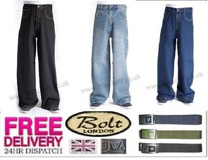 """Bleubolt Stonewash Carpenter Skater Jeans 24/"""" hem Big Size Baggy Loose fit"""