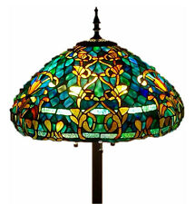 "Tiffany Style Stained Glass Floor Lamp ""Azure Sea"" w/ 20"" Shade -FREE SHIP IN US"