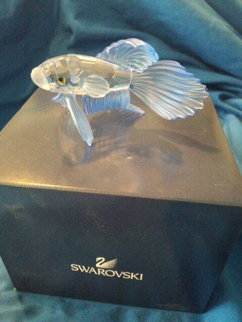 Swarovski Blue Siamese Fighting Fish 236718. Retired 2005.