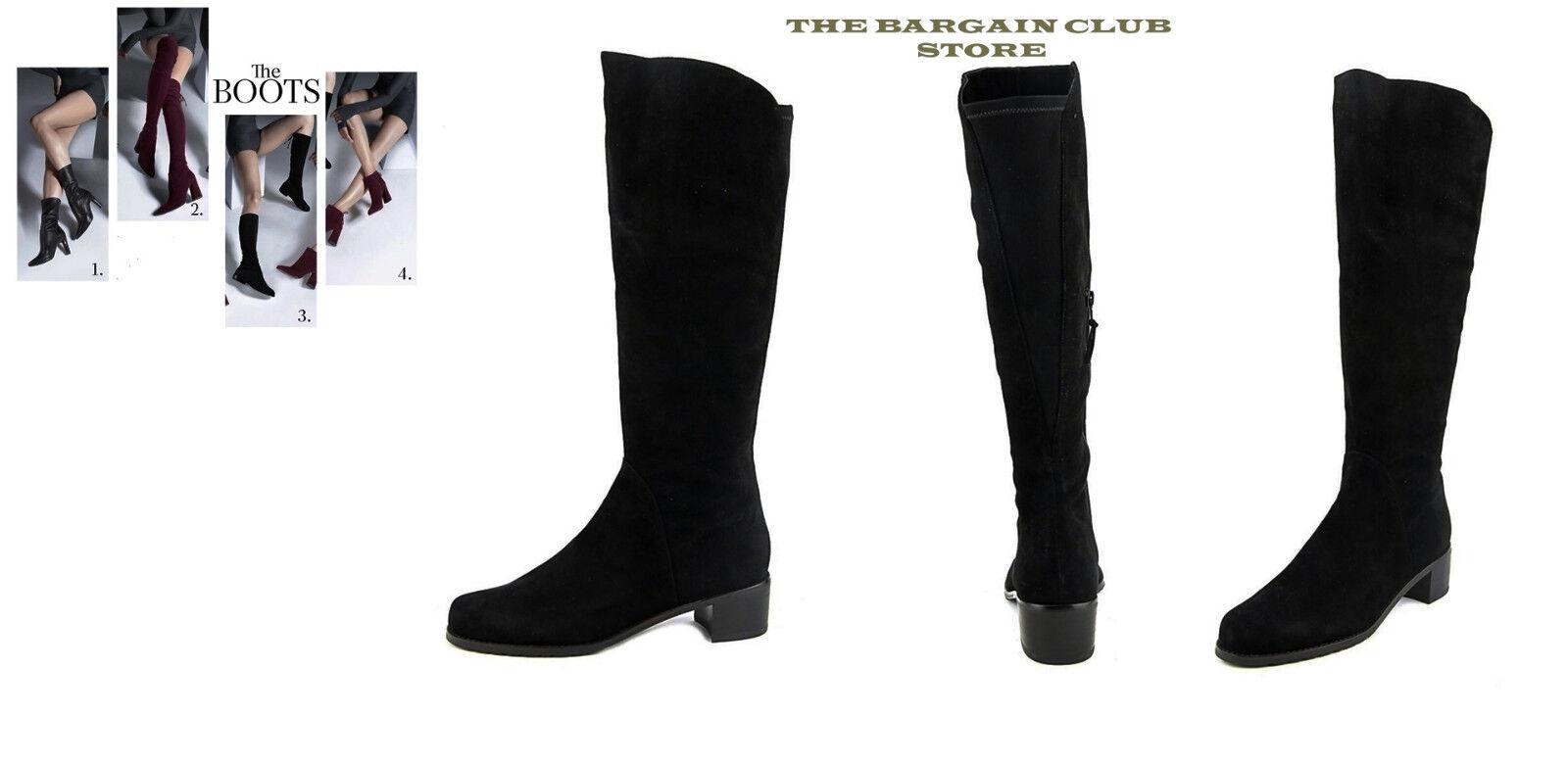 Stuart Weitzman Boots Black Villepentagon Knee-High Boots 5.5, 8, 8.5