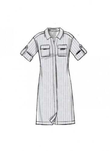 McCalls Ladies Easy Sewing Pattern 7387 Button Down Top Tu... Free UK P/&P