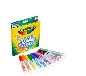 Crayola® Ultra-Clean Washable Markers Broad Tip Assorted Classic Colors 10 Pack