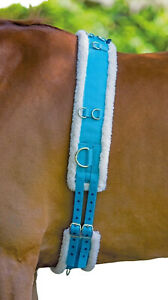 SALE-Shires-Adjustable-Lunging-Lunge-Roller-Soft-Fleece-Padding-With-Girth-Blue