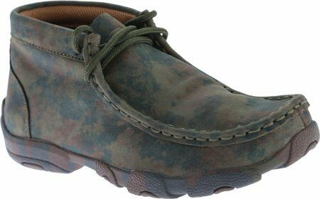 Twisted X Childrens YDM0010 Cowkids Leather Driving Moccasin Camo Size 1.5 US