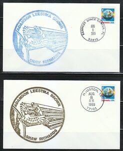 United-States-1989-Aug-8-Aug-13-four-space-covers-Shuttle-Columbia-STS-28-flight