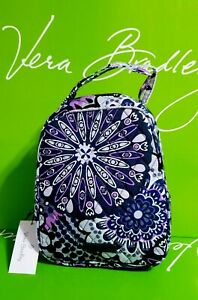New-Vera-Bradley-in-purple-MIMOSA-MEDALLION-Lunch-Bunch-food-or-baby-BAG