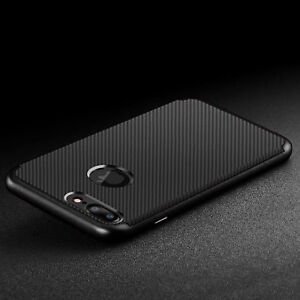 Luxury Carbon Fibre Bumper Hard Back Case Cover For Apple iPhone 8 7 7Plus 8Plus