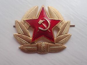 Russian-USSR-Soviet-Red-Army-Star-Hat-Pin-Badge-Kokarda
