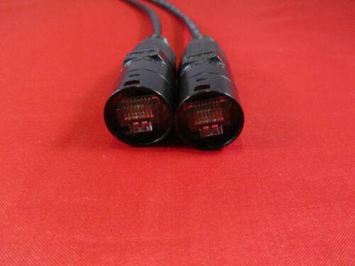 300 ft PRO Audio CAT 5e Ethernet Black Cable w//Neutrik EtherCon RJ45 plugs.
