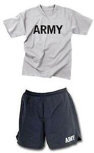 Us Army Military Physical Training Pft Sport Dress Pantalon Shirt 2xl-afficher Le Titre D'origine