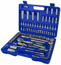 """Goodyear 94PC 1/2"""" 1/4"""" Socket Set & Screwdriver Bit Torx Ratchet Case Tool Kit"""