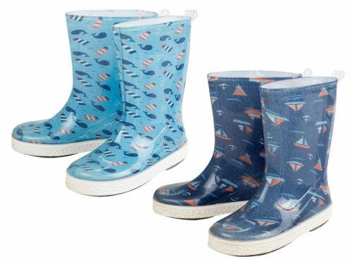 LUPILU Kleinkinder Jungen Kinder Regenstiefel Stiefel Gummistiefel Blau Marine