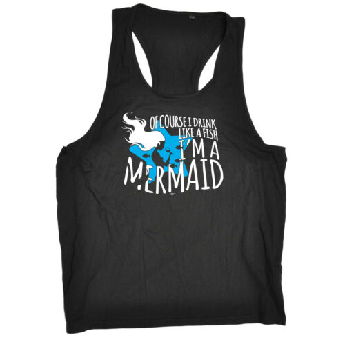 Funny Novelty Mens Vest Singlet Tank Top Of Course I Drink Like A Fish Im A Me