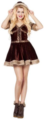Alaska Girl Eskimo Costume Nuovo-Donna Carnevale Travestimento Costume