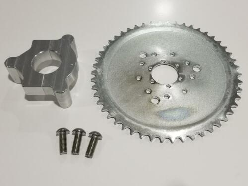 1.5 Hub 415 Chain CNC 46T Sprocket With Adapter 49cc-80cc  Motorized Bicycle