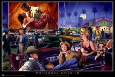 GEORGE BUNGARDA ~ HOLLYWOOD DRIVE-IN 24x36 POSTER Marilyn Monroe James Dean