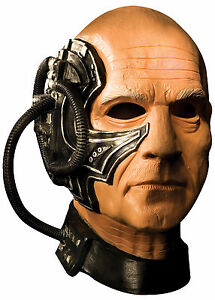 Image is loading Halloween-STAR-TREK-BORG-COLLECTIVE-LOCUTUS-LATEX-DELUXE-  sc 1 st  eBay & Halloween STAR TREK BORG COLLECTIVE LOCUTUS LATEX DELUXE MASK ...