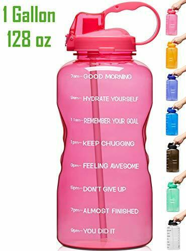 Venture Pal Large 128Oz Leakproof Bpa Free Fitness Sports Water Bottle With Moti