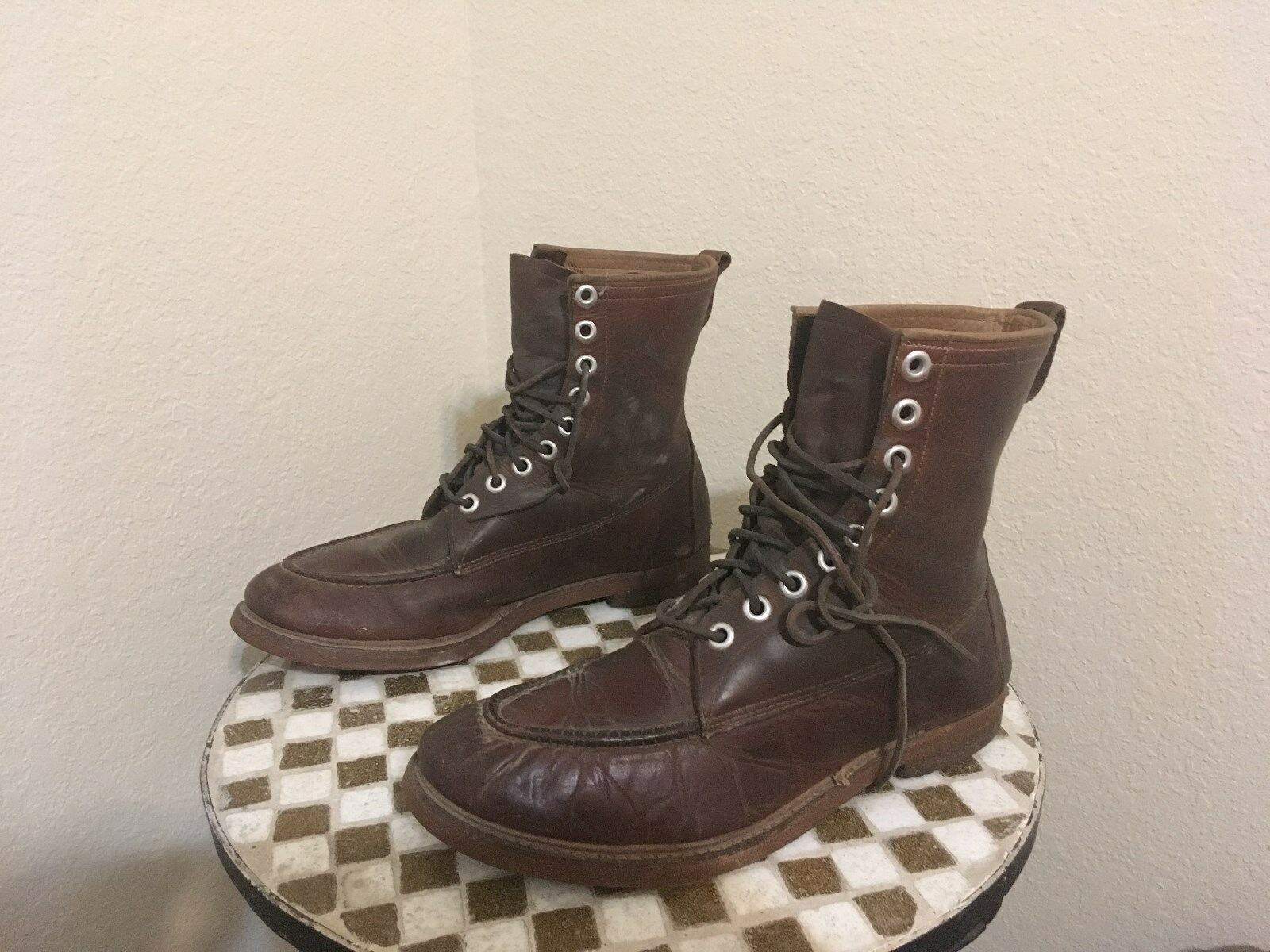 VINTAGE USA DISTRESSED PACKER WORK CHORE TRUCKER BOOTS  12 M
