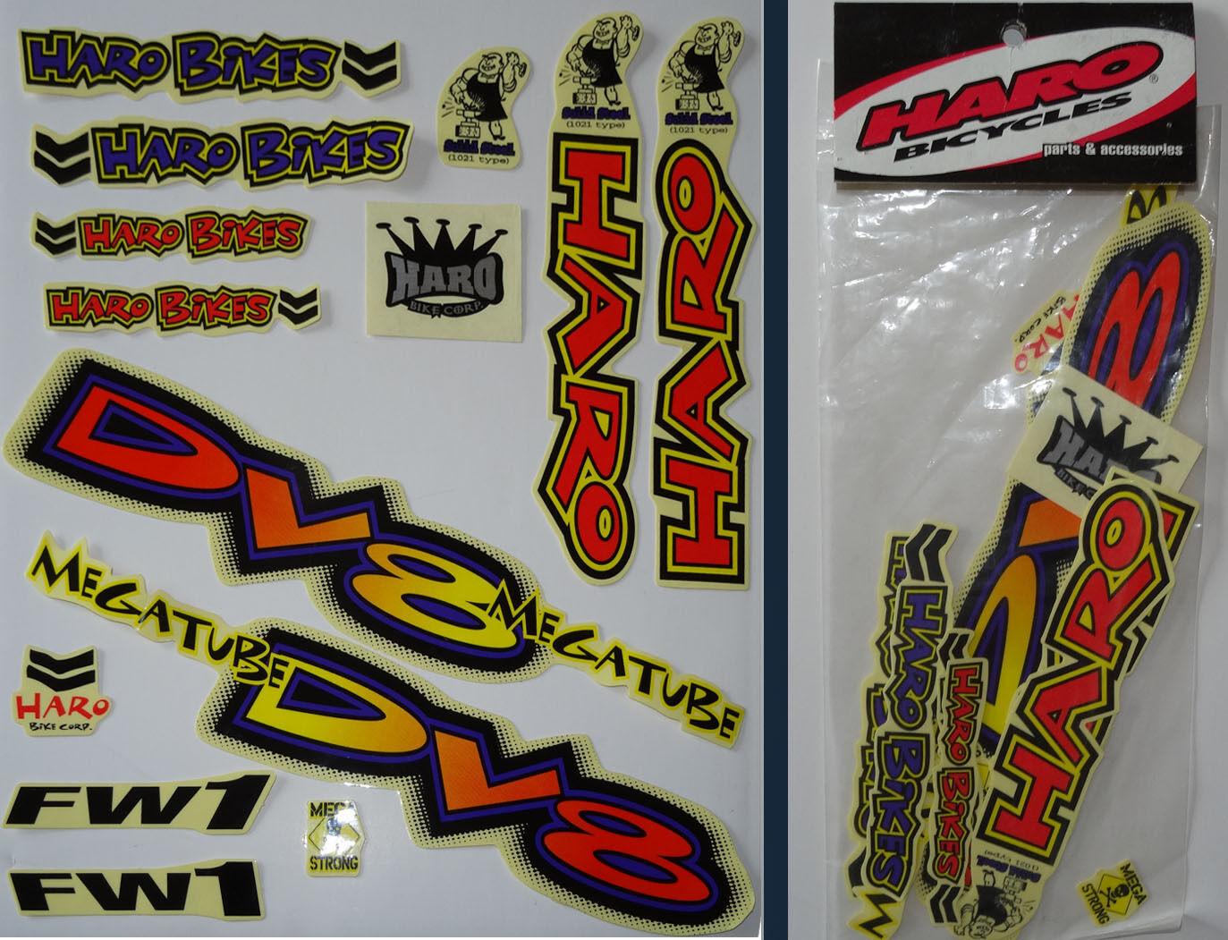 Haro - DV8 Mega Schlauch - BMX Aufkleber Set - '90s Alte Schule Freestyle