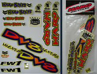 Haro - Dv8 Mega Tube - Bmx Sticker Set - '90s Old School Freestyle Bmx Decal Set