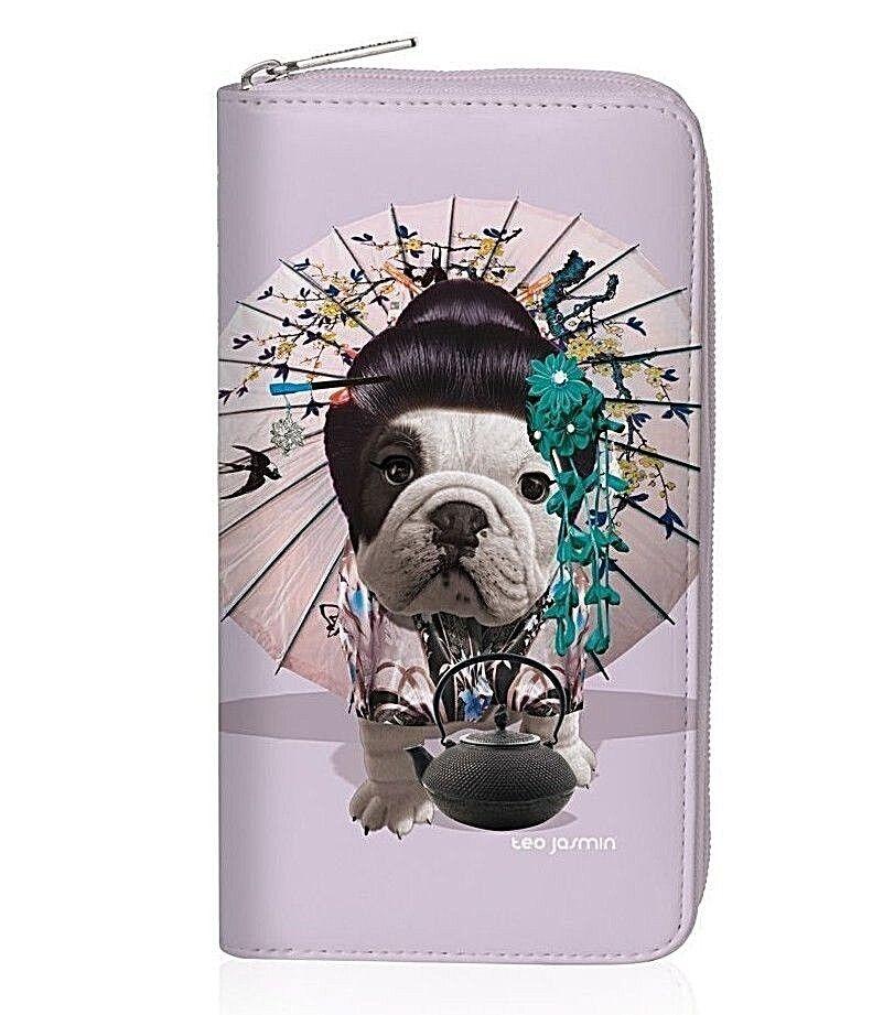 Teo Jasmin Oriental Geisha British Bulldog Purse Wallet Dog Lovers Gift Festival