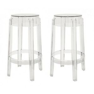 Image is loading Set-of-2-Acrylic-Ghost-Bar-Stool-OR-  sc 1 st  eBay & Set of 2 Acrylic Ghost Bar Stool OR Counter Stool Louis Ghost ... islam-shia.org