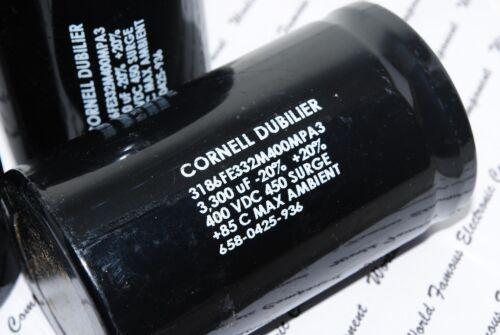 1pcs-CDE 3300uF 400V 3186FE332M400MPA3 Screw Terminal Capacitor-62x105 BOX035