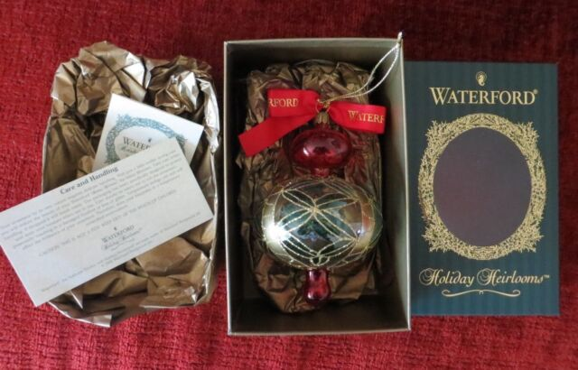 Waterford Holiday Heirlooms Ornament Pineapple Cut Onion Red Original Box - Waterford Holiday Heirlooms Christmas Ornament Pineapple Cut Onion