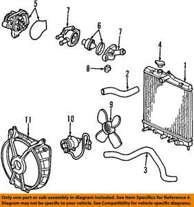 honda oem 01 05 civic radiator upper hose 19501plc000 ebay 1994 Honda Civic Fuse Diagram image is loading honda oem 01 05 civic radiator upper hose