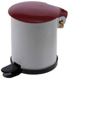Dollhouse Miniature 1:12 Scale Metal Garbage Pail//Bin with Lifting Lid #IM66015