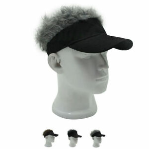 Funny Flair Hair Hat Unisex Men Women Visor Casquette Golf Wig ... 5a97343246a6