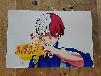 My Hero Academia Anime Dictionary Art Print Picture Todoroki 4x6