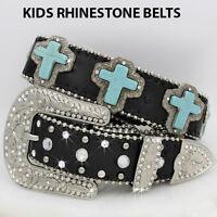 363-medium Girls Western Rhinestone Childrens Western Kids Bling Bling Belts