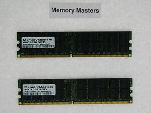 46c7538 8gb 2x4gb Pc2-5300 Ecc Reg Mémoire Système Ibm X3455 Séries