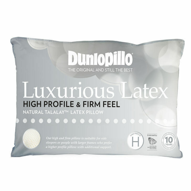 Dunlopillo-Talalay Latex Luxurious Pillow High Profile & Firm Feel RRP  179.95