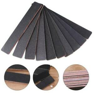 10-x-Black-Nail-Files-Sanding-120-120-Square-Grit-Nail-Art-Tips-Manicure