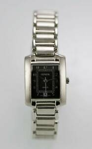 Geneva-Watch-Womens-Date-Stainless-Silver-Water-Resistant-Battery-Gray-Quartz