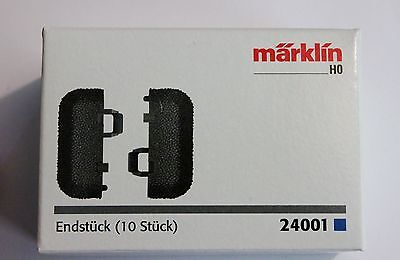 Märklin 24001 C Track End Pieces with Roadbed, Box of 10, SuperFast US Shipping!