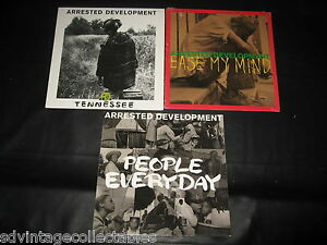 3-JACKET-ONLY-Arrested-Development-lot-NO-RECORD-People-Everyday-Tennessee-rap