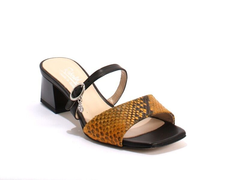 RobertoVita Sandals 230c Multi Color  Leder Double Strap Heels Sandals RobertoVita 36 / US 6 7776c0