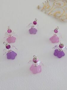 6-Lilac-And-Pink-Angel-Charms-Christmas-Gift-Decoration-Party