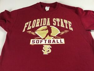 Florida-State-Seminoles-Softball-T-Shirt-Womens-Medium-FSU-Student-Alumni-Noles
