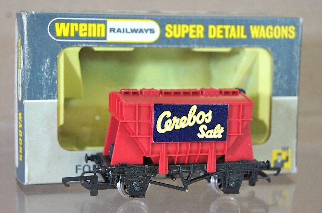 Wrenn W5021 Br Cerebos Salt red 20 Tonner Trichter Waggon Spätes Licht Aufkleber