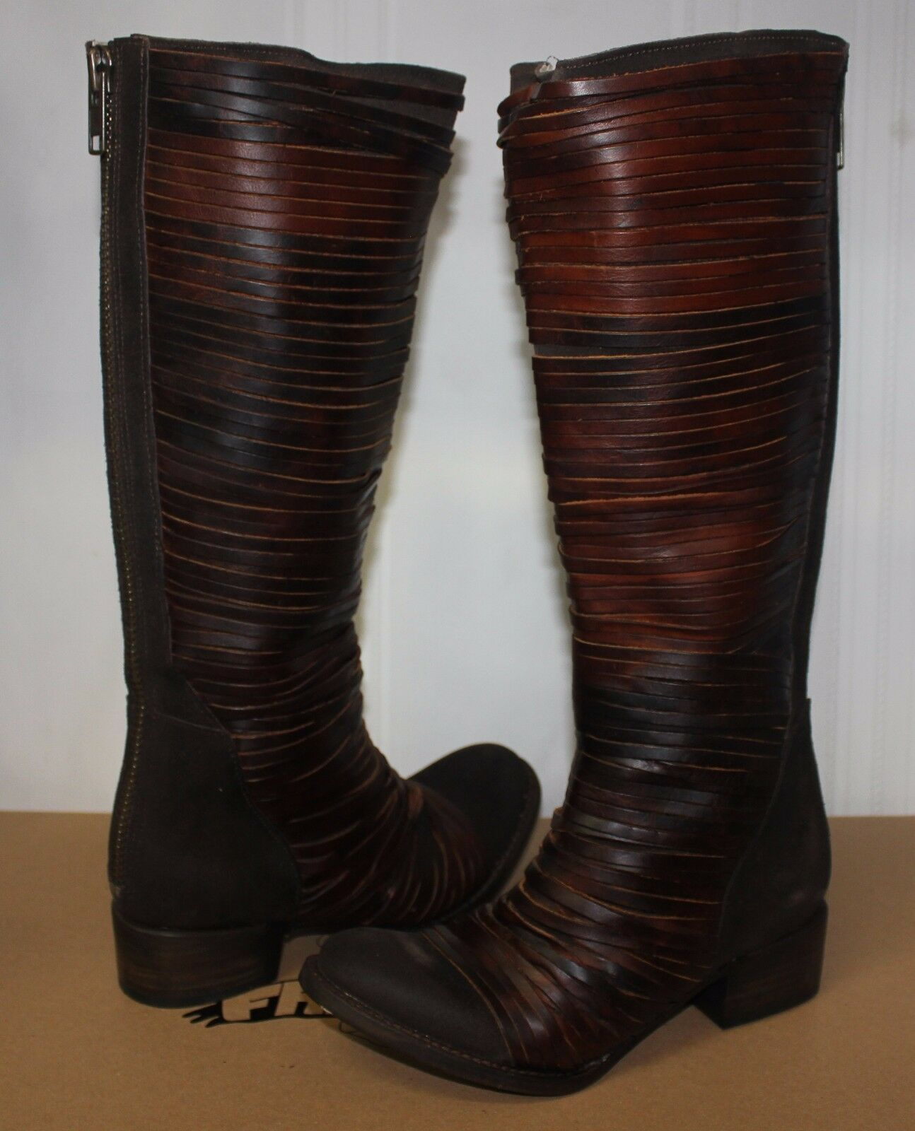 Freebird Women's Logan Leather boots Brown New With Box