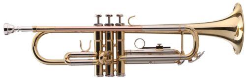Bb Trompete Blasinstrumente Jazztrompete Gold lackiert Brass Koffer Mundstück