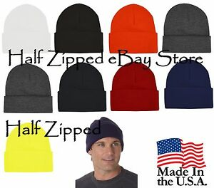 6d4c25dca20 Bayside USA Made 12   Knit Cap Beanie Hat with Cuff 3825 NEW 9 ...