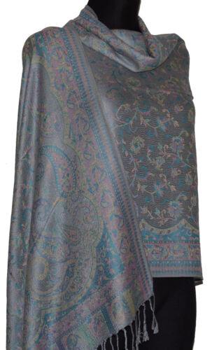 Pashmina Style Schal Tuch Pareo Schleier Dupatta Indisch Stola Paisley Gewebt