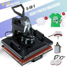Heat Press Transfer Digital Machine 12x15 T Shirt Mug Plate Cap 5 In 1 For Hat